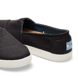 Black Coated Canvas Women's Avalon Slip-On Toms